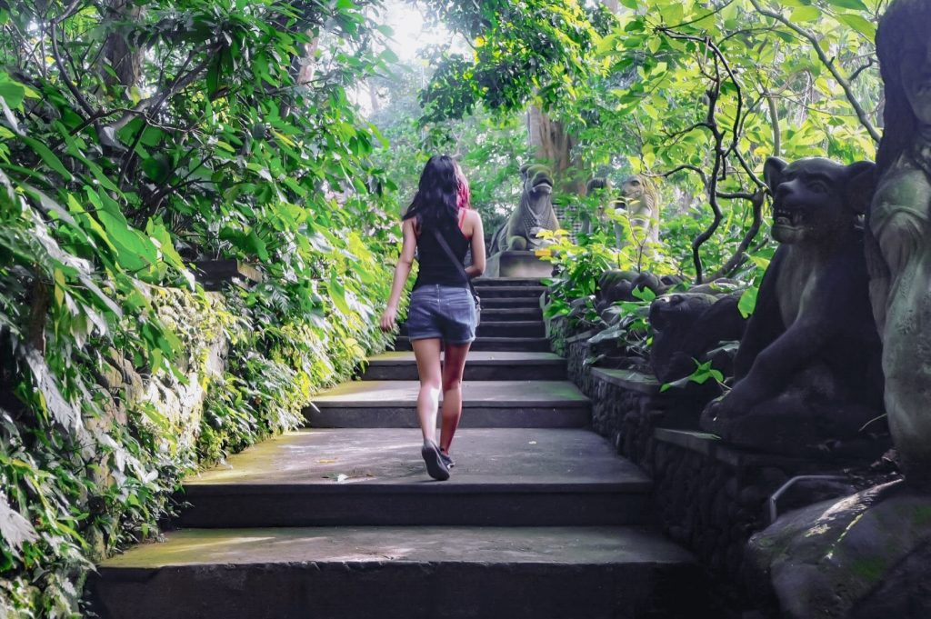 Solo female traveler in Ubud, Indonesia